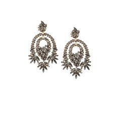 Dear Santa... BCBGMAXAZRIA - OVERSIZED RHINESTONE COCKTAIL EARRINGS