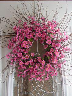 Spring Wreath  Birdhouse Wreath  Summer door DoorWreathsByDesign