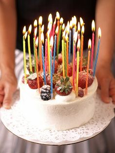 Cake funny candles birthday happy