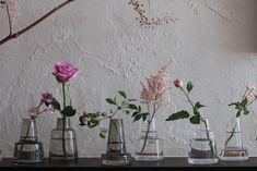 Flora ベース12cm short・medium・ long(クリア・スモーク) 約φ84 H120mm 各¥3,000 ホルムガード(スコープ) Table Flowers, Flower Vases, Flower Arrangements, Pretty Flowers, Planting Flowers, Glass Vase, Interior, Garden, Plants