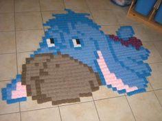 Eeyore pixel crochet rug by claire-de-lune  (778 granny squares - 140 x 170 cm)