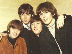 3rd December 1965. The Beatles photographed, at the Glasgow Odeon, prior to their final British tour.