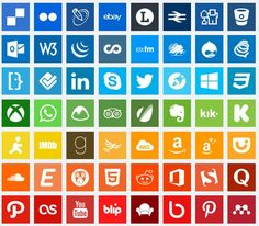 complete set of free social media Icons