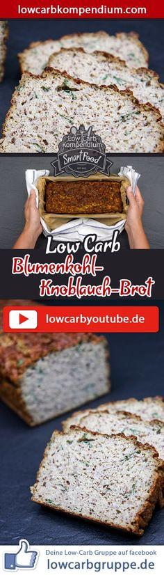 (Low Carb Kompendium) – Unser herzhaft-saftiges Blumenkohl-Knoblauch-Brot ist ein absoluter Hit! Dieses Low-Carb Rezept ist eine besonders leckere Alternative zu herkömmlichen Broten und eignet sich obendrein auch als Beilage ganz pur zu herzhaften Gerichten. Um das Low-Carb-Brot lange genießen zu können, empfehlen wir das Brot einzufrieren und bei Bedarf Teile wieder aufzutauen. Und nun wünschen wir dir viel Spaß beim Nachbacken, LG Andy & Diana.