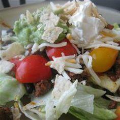 Easy Black Bean Taco Salad Allrecipes.com & corn salsa  (eMeals recipe from jan 8-14)