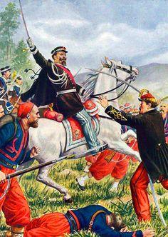 Vittorio Emanuele of Sardinia at the Battle of Solferino