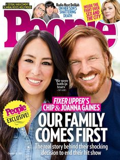 Chip and Joanna Gaines are opening up about why they're ending 'Fixer Upper'