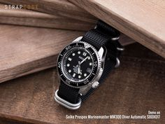 MiLTAT 20mm 5 Rings G10 Zulu Water Repellent 3D Nylon, Matte Black, Brushed [20B20BZU00N3A65] demo on Seiko Prospex Marinemaster MM300 Diver Automatic SBDX017