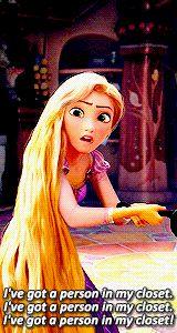 "kpfun: """" Rapunzel + repeating herself "" """