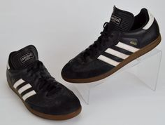 Adidas Samba 034563 Black Classic Leather Indoor Soccer Sneakers Men's U.S. 11…