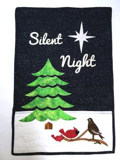 Quilt Kit, Wall Quilt, Wall Hanging, Christmas Quilt Kit,Winter Quilt Scene, Evergreen tree, Cardinals, Partridge, snow, FULL KIT