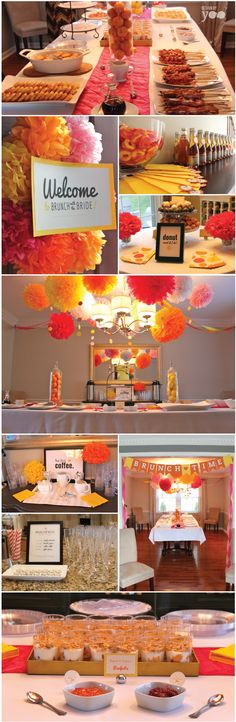 Brunch with the bride –a brunch-themed bridal shower with donut station, coffee bar, and mimosas