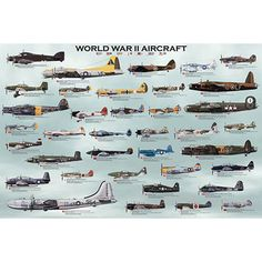 "Genealogy Aviation Posters Educational Aviation History  Each of our Genealogy Aviation Posters feature colorful aircraft profiles with descriptive information about each aircraft offered in a wide variety of styles that are sure to please both children and adults. Each Poster measures about 24""h x 36""w."