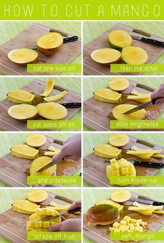 How To Cut A Mango. Need this since my boys love mangos and I just butcher them trying to cut them LOL