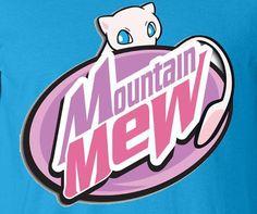 Pokemon go Mew 2 Parody Mountain Dew Summer fun tee t-shirt