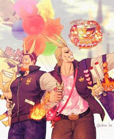 Boku no Hero Academia || All Might/Yagi Toshinori || Endeavor/Enji Todoroki