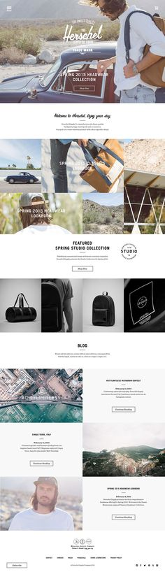 Herschel Redesign Concept - Minimalist and clean eCommerce website.