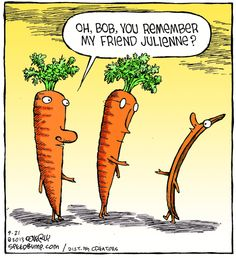 Today on Speed Bump - Comics by Dave Coverly Funny Puns, Funny Laugh, Funny Stuff, Hilarious Memes, Cartoon Jokes, Cartoon Fun, Off Color Humor, Food Jokes, Food Humor