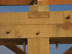 """Timbers can only be as long as the tree they are cut from and often that isn't long enough to provide a continuous wallplate, soleplate or purlin running the length of a building. Cue the nifty and ostentatious """"scarfed"""" joint which aims to join lengths of timber to effectively create one very long timber."""