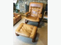 Leather & Rosewood Lounge Chair