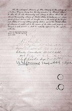 Appomattox Court House....The surrender!