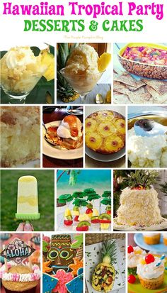 Recipes for a Hawaiian Tropical Party. All the food & drink ideas you need from burgers, salads, and pork dishes, to desserts and drinks, there is a Hawaiian Tropical recipe for all! Hawai Party, Hawaiian Luau Party, Beach Party, Tiki Party, Hawaiian Dip, Party Fun, Party Games, Luau Desserts, Cocktail Desserts