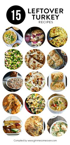 A delicious collection of 15 Leftover Turkey Recipes that will put that Thanksgiving surplus to good use!   gimmesomeoven.com