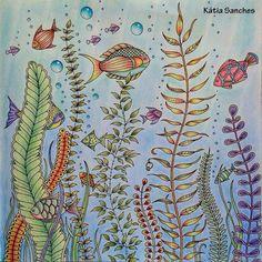 #coloringbook #lostocean #johannabasford #livrodecolorir #oceanoperdido #coloring