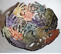 Pottery Art Project Ideas | Clay Art Project Ideas / hand-bowl-auction-project-