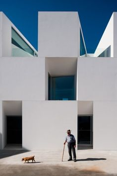 :: DESIGN COMMUNE IDEAS i heart:: **you know where to find me if the design commune doesn't come to fruition, at least someone was smart enough to design a place for those of us modern minimalists** Rethinking the Nursing Home  This beauty of a building is a nursing home, recently completed by Aires Mateus Architects in Alcácer do Sal, Portugal. #architecture #DESIGNCOMMUNEIDEASiheart