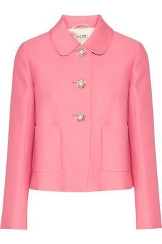 869d8194160a MIU MIU Cropped embellished crepe jacket.  miumiu  cloth  jackets 60s Style  Clothing