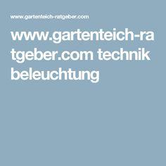www.gartenteich-ratgeber.com technik beleuchtung