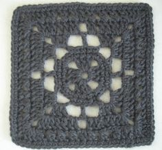 DIAMOND WINDOWPANE a crochet square design by Reyna Thera Lorele Your first round begins just like a traditional Gran...
