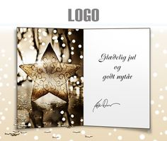 ekortet.dk leverer danmarks flotteste elektroniske julekort til virksomheder. På billedet: Julekort med logo. Julestjerne. Julesne.Ekort, e-kort, e-julekort, ejulekort, elektroniske julekort, ecard, e-card, firmajulekort, firma julekort, erhvervsjulekort, julekort til erhverv, julekort med logo, velgørenhedsjulekort, julekort
