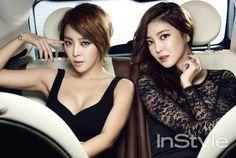 Brown Eyed Girls's Narsha & NS Yoon-G InStyle Korea Magazine November 2013