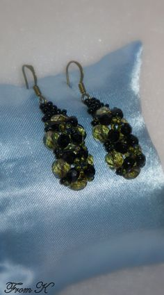 Seed Bead Earrings, Beaded Earrings, Seed Beads, Drop Earrings, Olive Green, Glass Beads, Dangles, Shops, Community