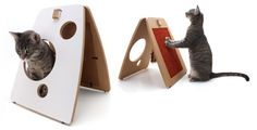 A-frame Modern Cat Scratcher and Play Station
