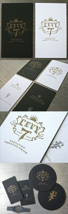 Great Typography And Logo Letterpress Business Card In Black And White