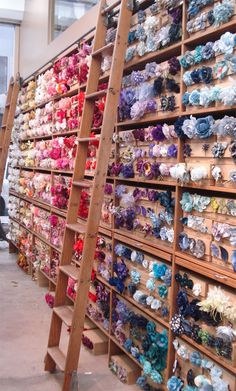Tinsel Trading Company in New York - Millinery Wall!  http://suchprettythings.typepad.com/.a/6a00e553a4097c88340120a63d2311970c-pi