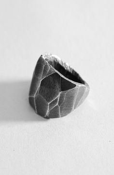 Oxidized Steadfast Ring – The Archive