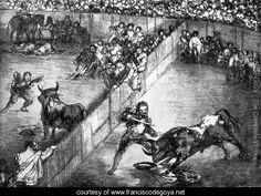 The Divided Arena - Francisco De Goya y Lucientes - www.franciscodegoya.net