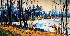 AutumnOriginal acrylic paintingLandscapefree by ATTOpainting