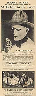 Posteritati: DEBTOR TO THE LAW, A/ NATURAL BORN SHOOTER, A 1922 U.S. Herald (4 1/2x12)
