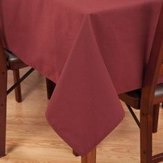 Riegel Premier Hotel-Quality Tablecloth, 90 inch x 90 inch, Red