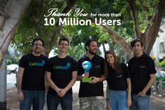 Part of our team celebrating over 10M users on Google Play! Thank you, you're the best :)