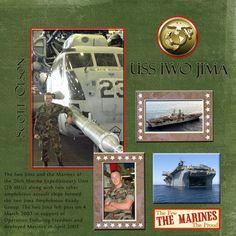 My scrapbook page...my son, a Marine!
