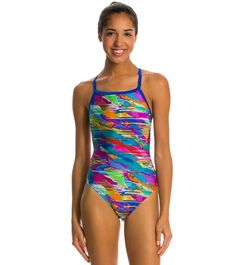 3d2c9ba31681a Speedo Cut Cloud Drill Back One Piece Swimsuit at SwimOutlet.com - Free  Shipping