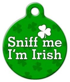 Sniff Me Im Irish Pet ID Tag for Dogs and Cats  Dog Tag Art  LARGE SIZE >>> Check out the image by visiting the link.