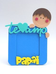 Porta Retrato 10x10 foto 7x7 Te Amo Papai-Cortes para Montar Fathers Day Crafts, Happy Fathers Day, Creative Gifts, Creative Art, Diy And Crafts, Crafts For Kids, Mom Day, Diy Frame, Holidays And Events
