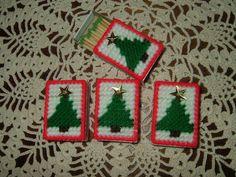Christmas Match BoxesPlastic CanvasNeedlepointSet of 4